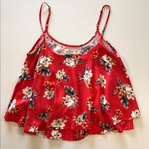 ‼️2/$20 Hollister Floral Crop Top in size XS